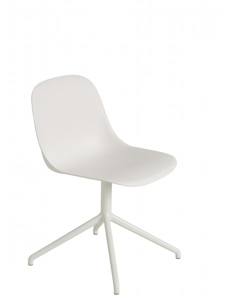 Drehstuhl Fiber Side Chair Swivel base without return von Muuto in weiß