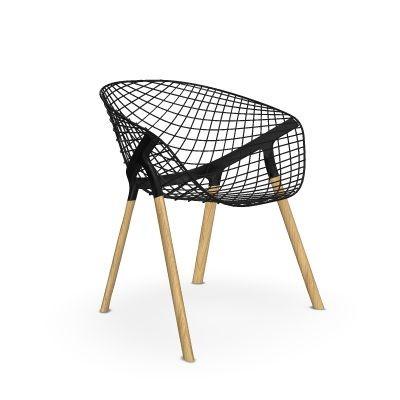 Kobi Wood-Alias-Sitzschale schwarz