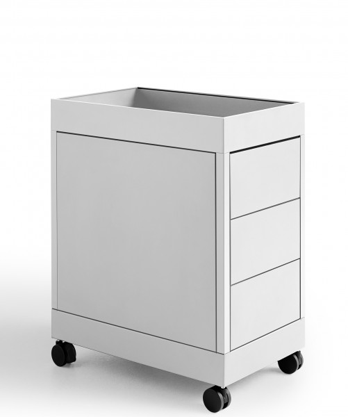 NO Trolley B 3 Drawer & Tray Top Farbe light grey Hay