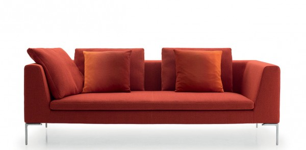 Sofa Charles 20 in orange rot von B & B Italia