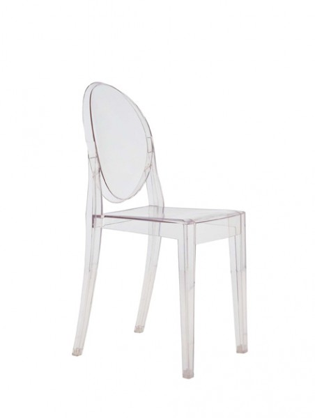 Stuhl Victoria Ghost von Kartell in transparent glasklar (B4)