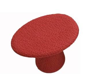 Hocker Shitake Farbe Lacquer red von Moroso