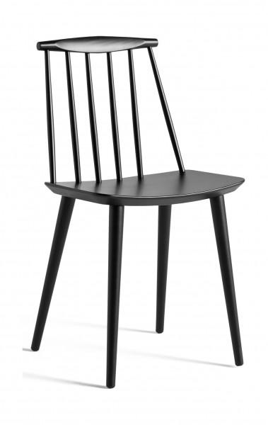 Stuhl J77 Chair Ausführung schwarz gebeizt von Hay