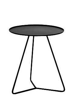 Beistelltisch Steely, schwarz, Tischplatte Durchmesser 40 cm von Möller Design