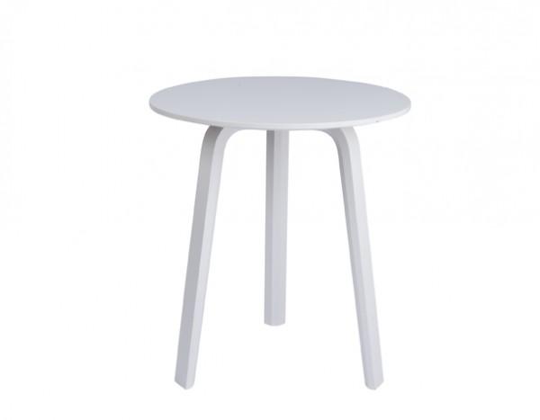 Beistelltisch Bella Coffee Table von HAY, weiß, Durchmesser 45 cm, Höhe 49 cm
