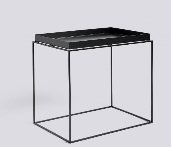 Tray Table Side Table Recantular von HAY, 40 x 60 cm schwarz