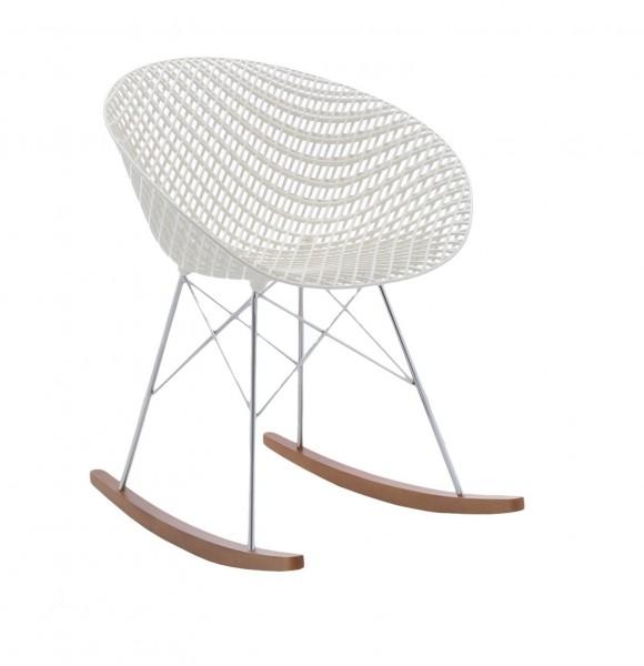 Schaukelstuhl Smatrik Rocking Chair Sitzschale weiss