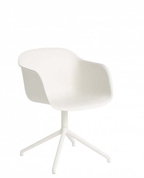 Armlehnstuhl Fiber Armchair Swivel Base without return von Muuto in weiß