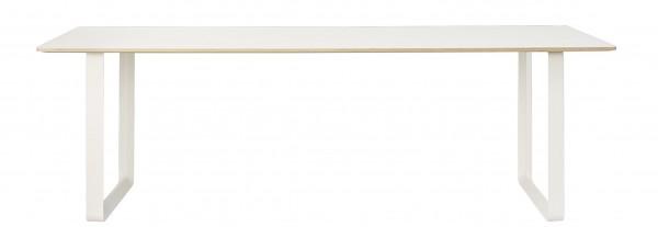 70/70 Table Tischplatte Laminat weiß Untergestell weiß Muuto