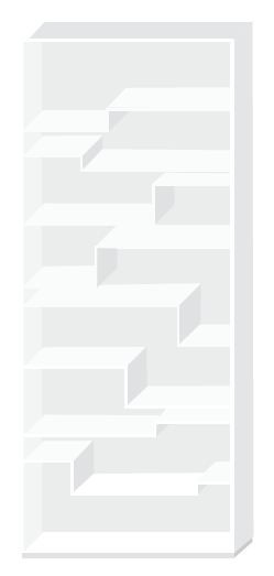 Regal Melody von MDF Italia in der Farbe weiß