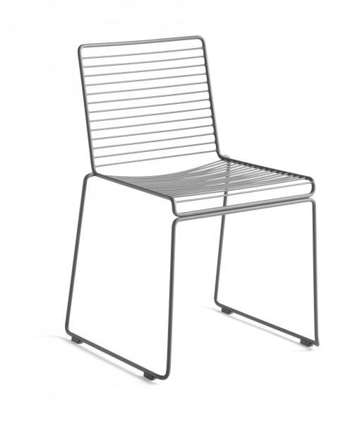 Stuhl HEE Dining Chair Farbe asphalt grey von HAY