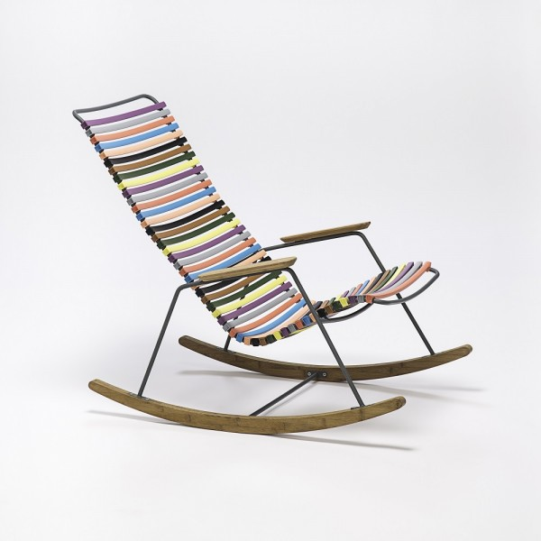 Schaukelstuhl Click Rocking Chair Sitzschale multicolor 1 Houe