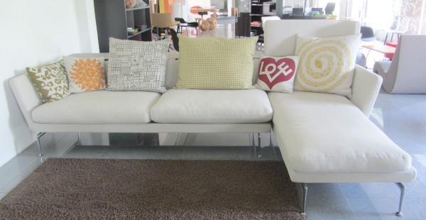 Longue Sofa Suita mit Chaise Longue Bezug Olimpo perle (02) von Vitra Ausstellungsstück