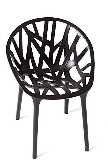 Stuhl Vegetal von Vitra in der Farbe basic dark - Ansicht von vorne