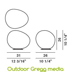 Bodenleuchte Outdoor Gregg media von Foscarini - Abmessungen