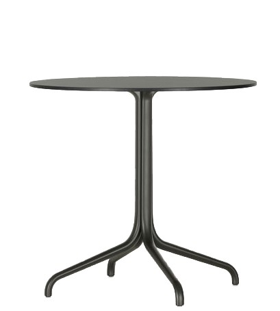 Belleville Table outdoor Tischplatte Ø 79,6 cm von Vitra Farbe schwarz