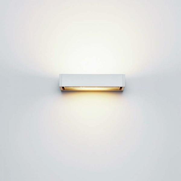 Wandleuchte SML Wall von Serien.lighting in der Größe medium, Ausführung Aluminium silber eloxiert