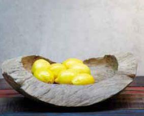 Schale Natural von Jan Kurtz dekoriert mit Zitronen