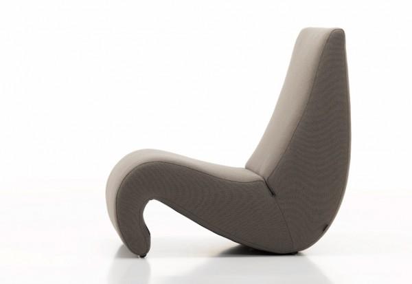 Sessel Amoebe - Ausstellungsstück Bezugsstoff Tonus Farbe trüffel Vitra