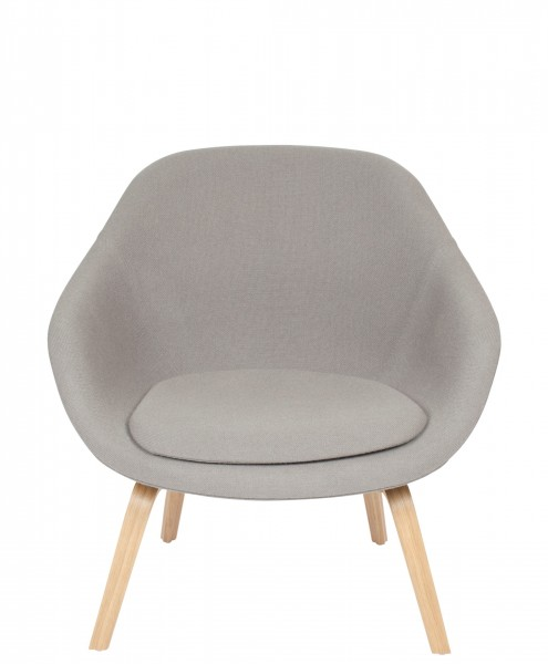 Lounge Chair AAL83-Hay-Hallingdal grau 143-Gestell Eiche klar lackiert