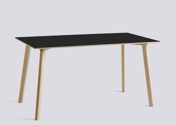 Tisch Copenhague Deux CPH Deux 210 Tischplatte Laminat ink black Tischbeine Buche, Länge 140 cm