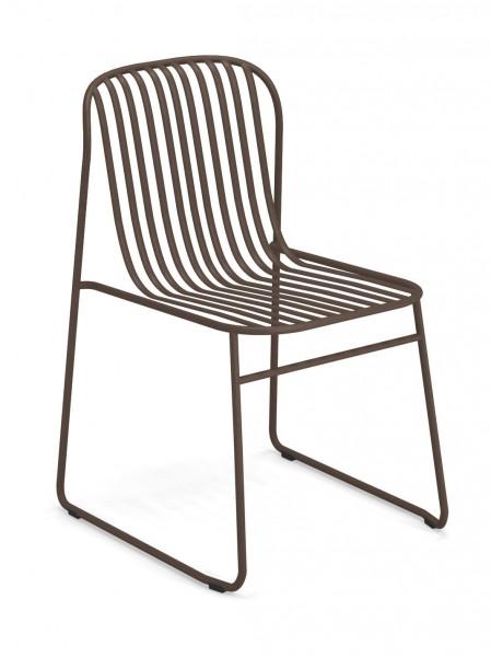 Stuhl Riviera Farbe indischbraun emu