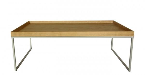 Couchtisch Pizzo Höhe 40 cm von Jan Kurtz Tablett Eiche matt lackiert
