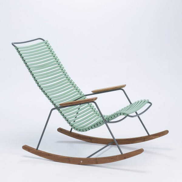 Schaukelstuhl Click Rocking Chair Sitzschale dusty green Houe