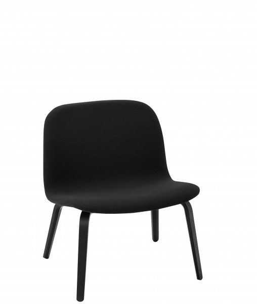 Sessel Visu Lounge Chair Bezug Steelcut 190 schwarz, Beine Esche schwarz Muuto