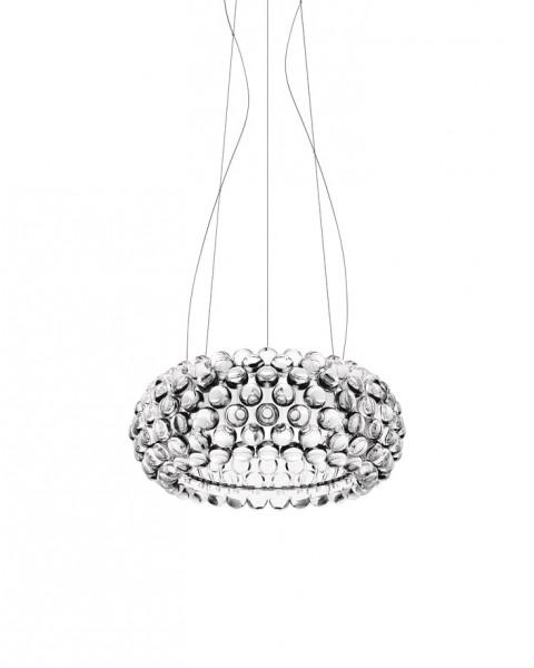 Pendelleuchte Caboche media LED von Foscarini in der Ausführung transparent, Designer Patricia Urquiola E Eliana Gerotto