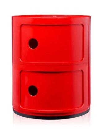 Container Componibili 2-stöckig von Kartell, Farbe rot
