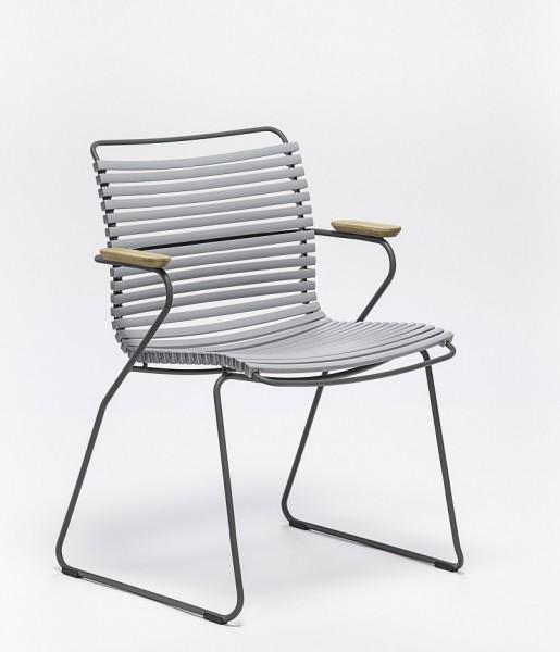 Armlehnstuhl Click Sitzschale grau Houe
