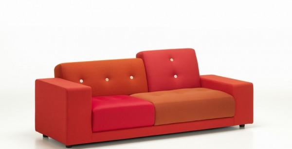 Vitra-Polder Compact-rot-niedrige Lehne sitzend links