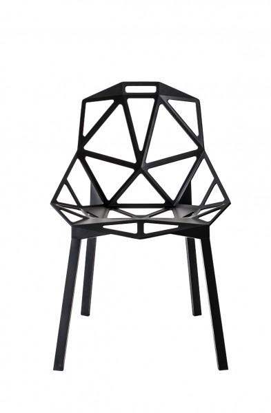 Schalenstuhl Chair One von Magis in schwarz Ansicht von vorne
