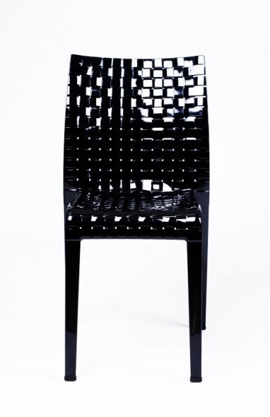Stuhl Ami Ami von Kartell in der Ausführung deckend schwarz glänzend - B-Ware