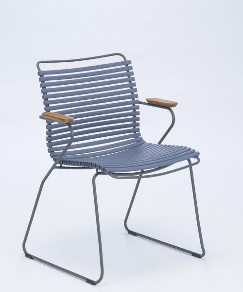 Armlehnstuhl Click Sitzschale pigeon blue Houe