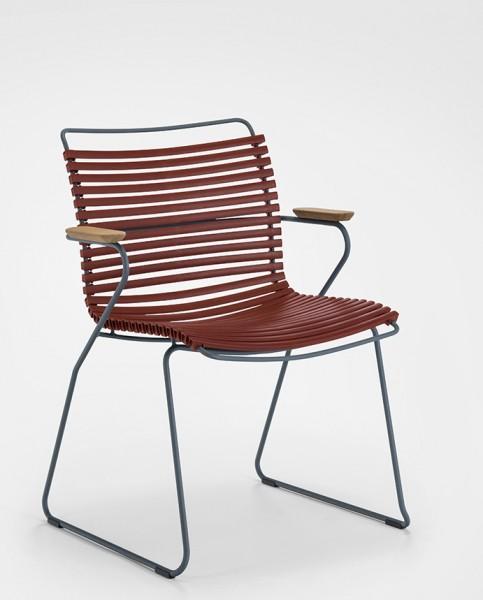 Armlehnstuhl Click Sitzschale paprika Houe