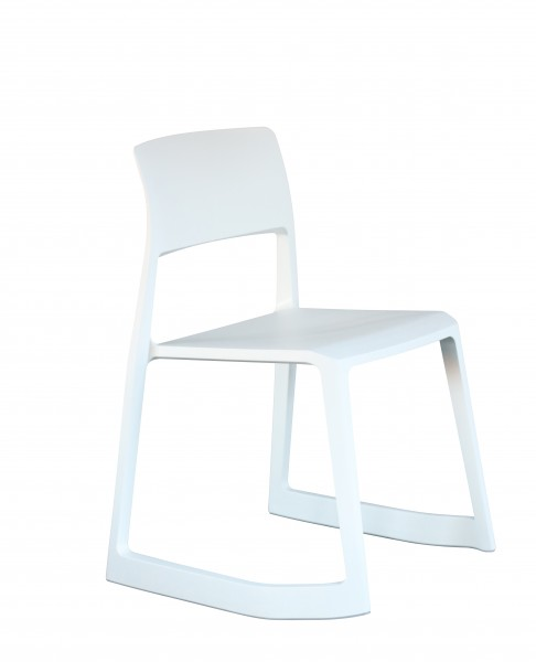 Stuhl Tip Ton Farbe weiß Vitra
