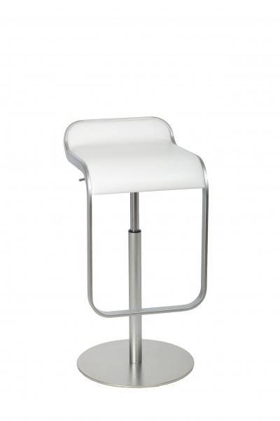 Barhocker LEM von Lapalma - Sitzfläche in Bezug Leder Cuoio weiß