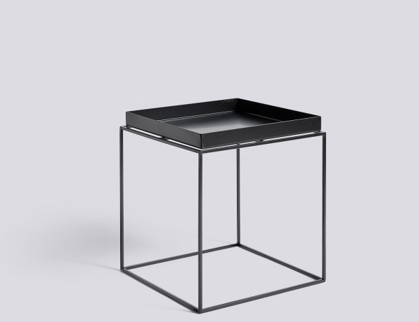 Tray Table medium square von HAY schwarz