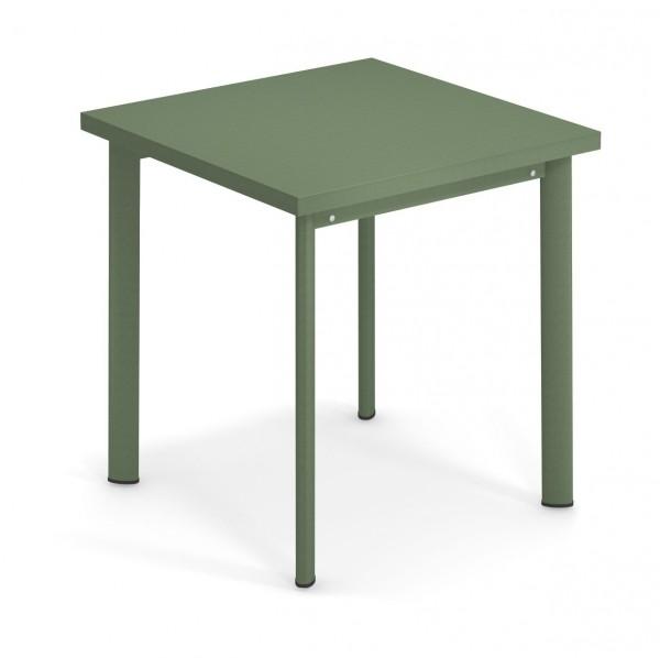 Tisch Star 70 cm x 70 cm Farbe militärgrün von emu