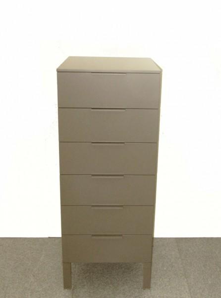 Kommode CAP Basic 1 mit 6 Schuben von Cappellini, Farbe fango (schlamm) - Ausstellungsstück