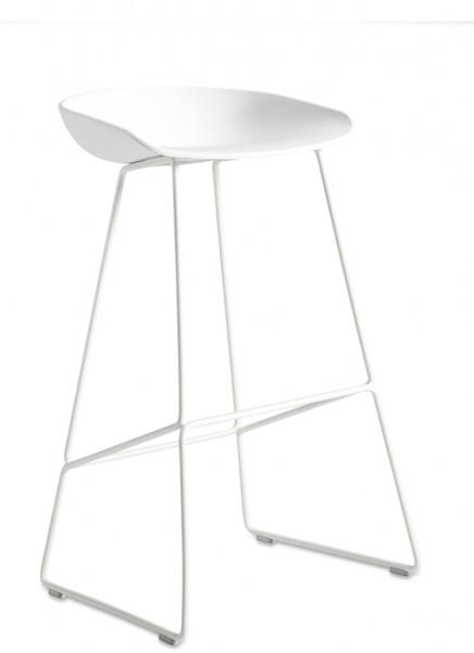 Barhocker About a Stool AAS38 von HAY, Sitz und Gestell Farbe weiß,
