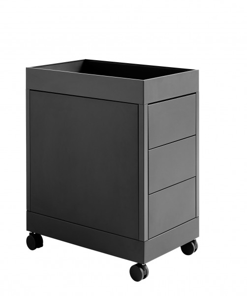 NO Trolley B 3 Drawer & Tray Top Farbe charcoal Hay