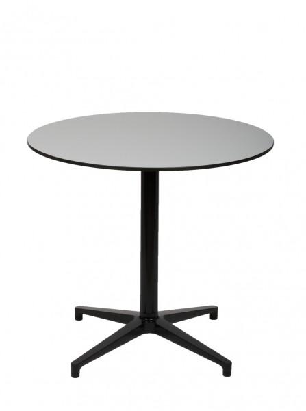Bistro Table outdoor Platte HPL Vollkern Farbe pastelgrau Gestell basic dark von Vitra