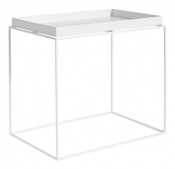 Tray Table Side Table Recantular von HAY, 40 x 60 cm weiss