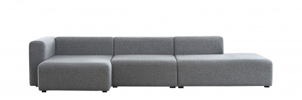 Mags Sofa mit Chaiselongue links Bezugsstoff Hallingdal 130 von Hay