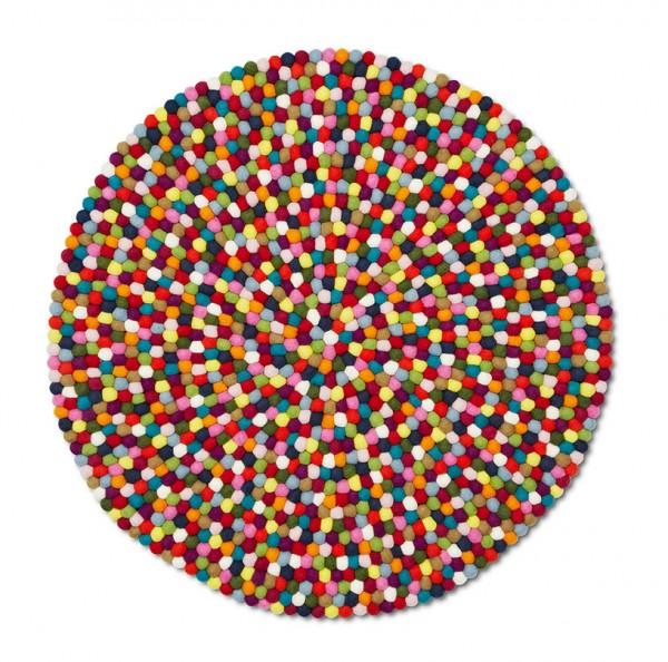 Teppich Pinocchio Durchmesser 90 cm Farbe multi colour von HAY