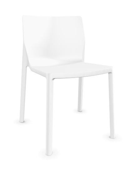 Outdoorfähiger Stuhl LP von Kristalia Farbe weiß