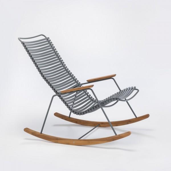 Schaukelstuhl Click Rocking Chair Sitzschale dunkelgrau Houe